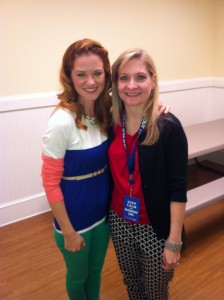 Never stand next to anyone as gorgeous as Sarah Drew in a photo if you can help it!