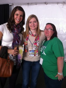 With writer friends Lindsey Leavitt and Crystal Perkins. Sure, we LOOK harmless enough...